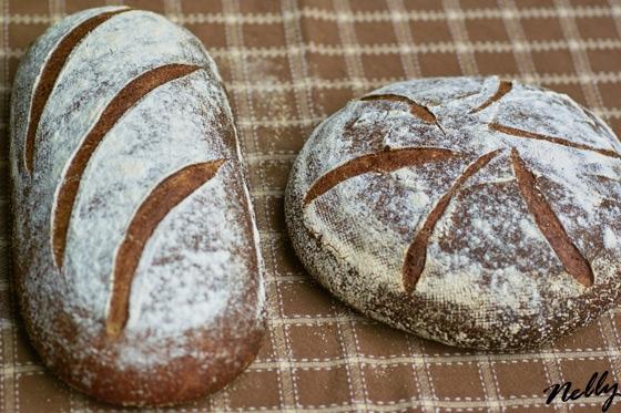 Цельнозерновой Хлеб на Закваске - Brown Sourdough, Richard Bertinet Делала полную порцию, добавила...
