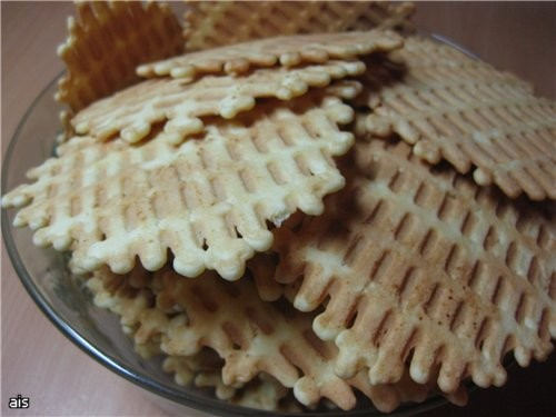 Хрустящие вафли от Вафли действительно хрустящие и на мой вкус не такие уж и сладкие как говорила Н... - 2