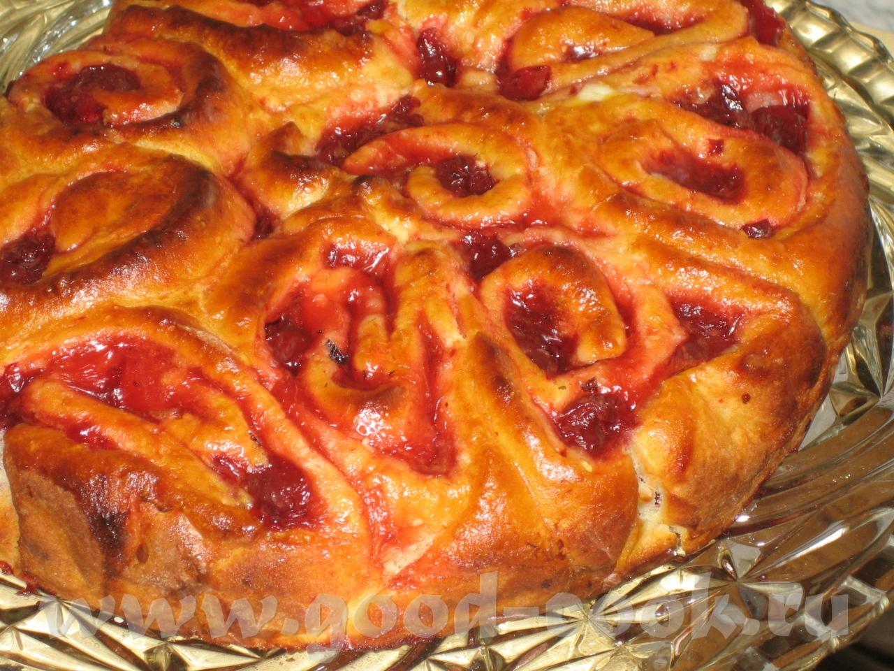 Творожное тесто для вишневого пирога рецепт с