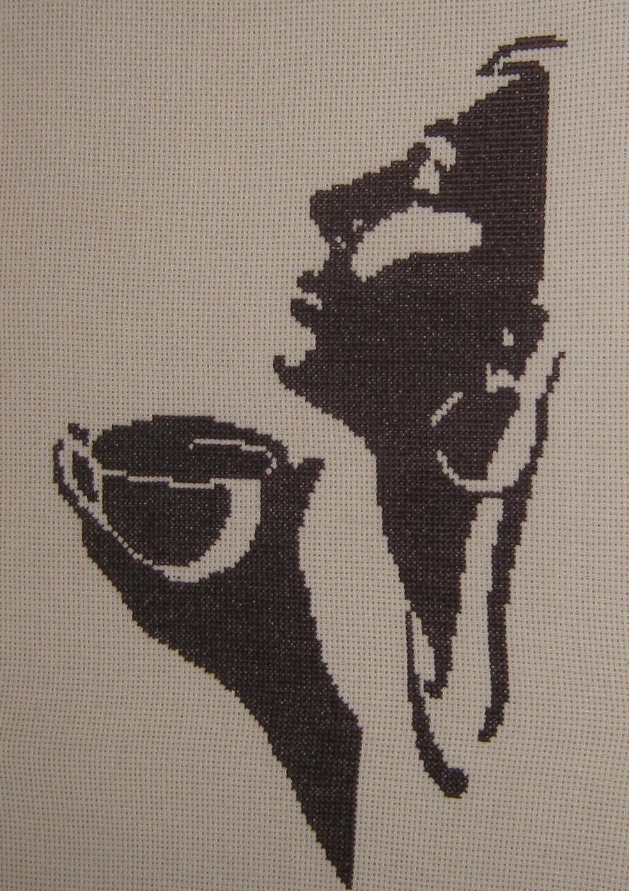 Схема вышивки «Девушка с кофе» - Схемы автора «jstar8» - Вышивка крестом 56