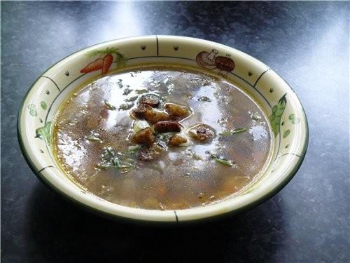...возможность приготовить суп из сушеных грибов (которые. мясо по...