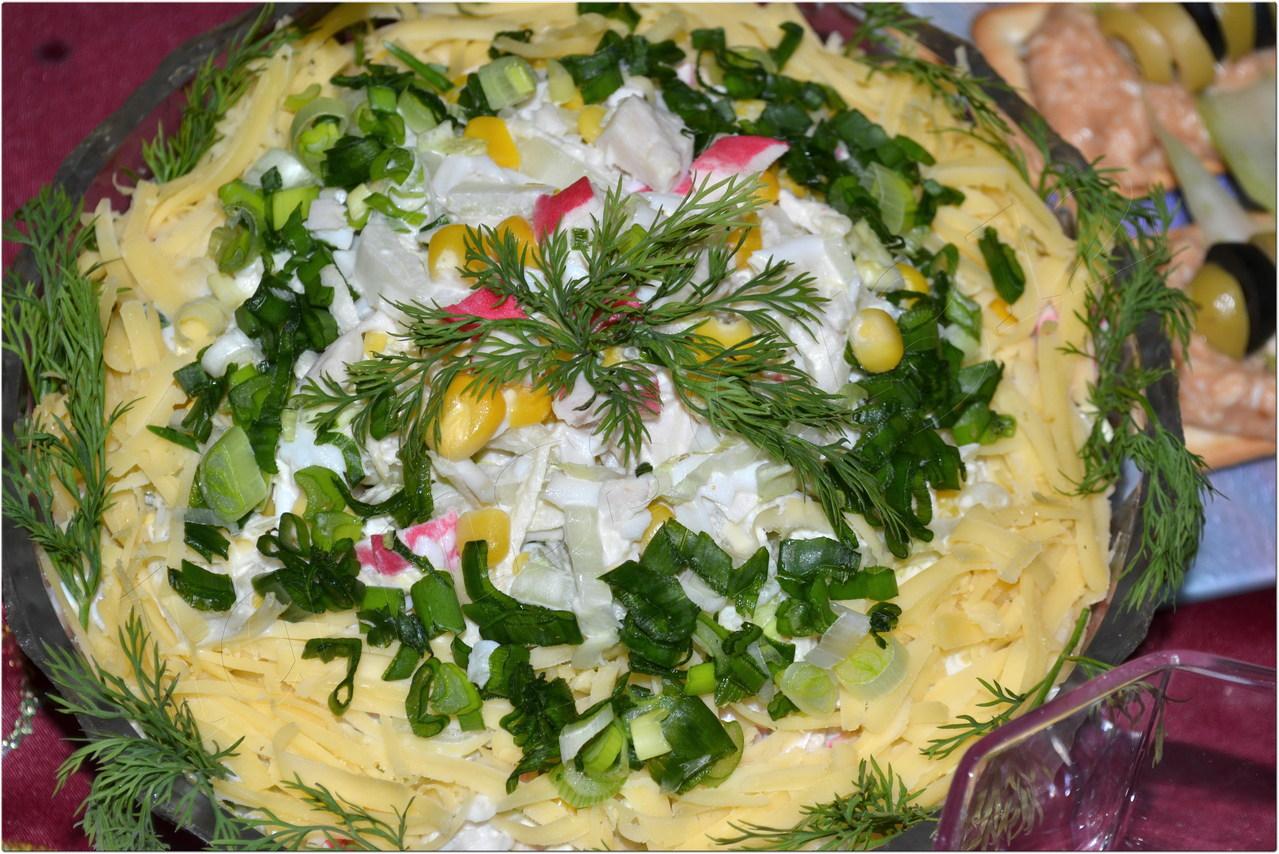Салат каприз с языком пошагово