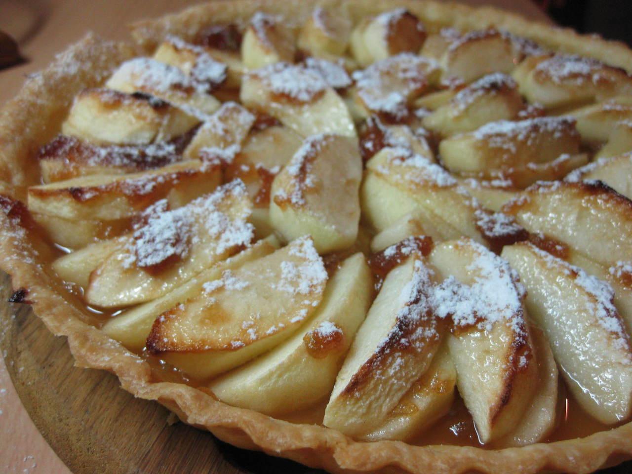 Яблочный пай из песочного теста рецепт