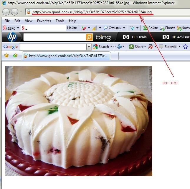 Итак, заливаем фото на сервер сайта, код, который выдаётся справа, НЕ копируем