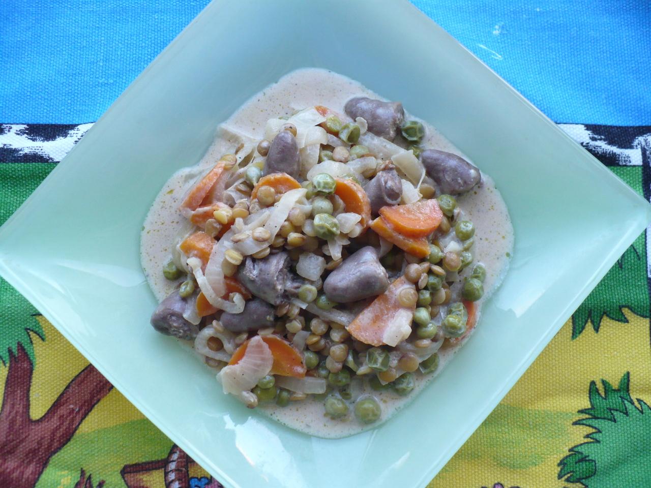 Теплый салат с чечевицей рецепты с