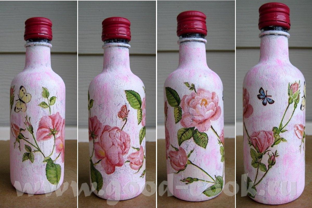 Декупаж своими руками для начинающих бутылки