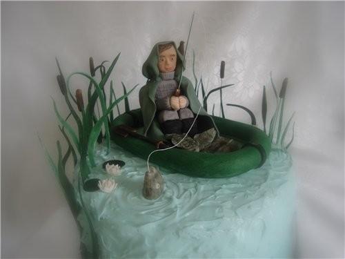рыбак в лодке из мастики мастер класс