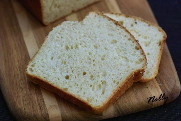 Белый хлеб для сэндвичей на закваске 220г жидкой закваски 125 мл воды 1 ст