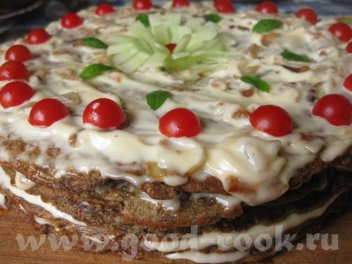 Также в честь праздника решила сделать печеночный тортик, что-то я очень давно его не делала, а он...