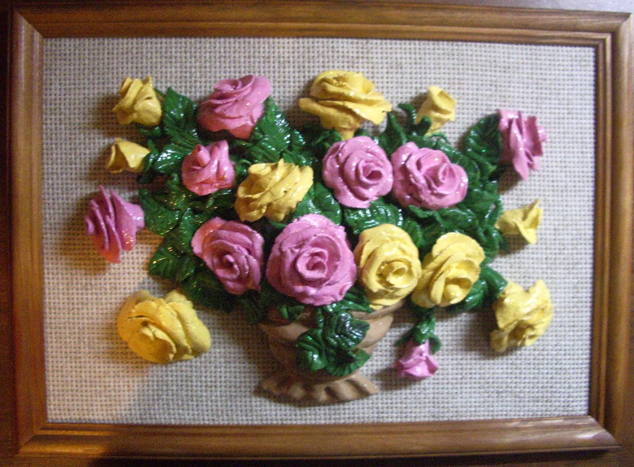 Цветы из соленого теста своими руками пошаговая