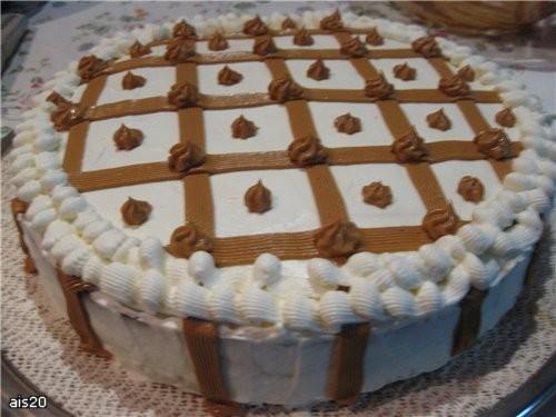 "Ира спасибо за рецепт торта от Jul-Jul с кукинга Торт ""Сникерс"" Коржи пропитывала ликером Тирамису"