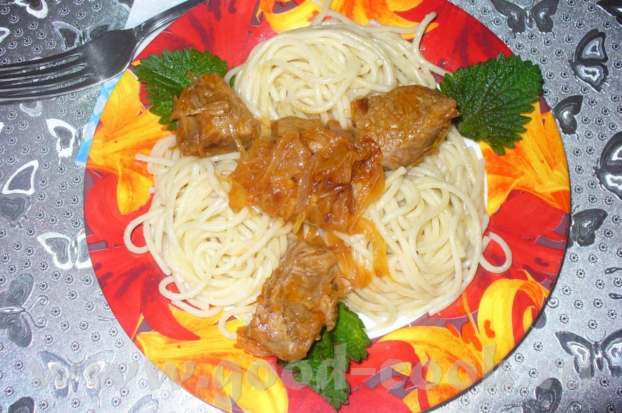 Подлива из свинины к макаронам рецепт с пошагово в