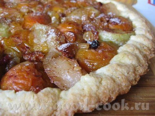 Пирог с фруктами из компота Тесто у меня ушло не все, поэтому из остатков теста я сделала печенье