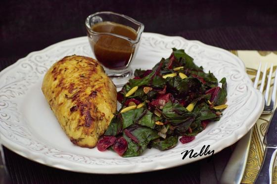 Рис чимичурри с зелёным горошком Мангольд тушеный с овощами - 2