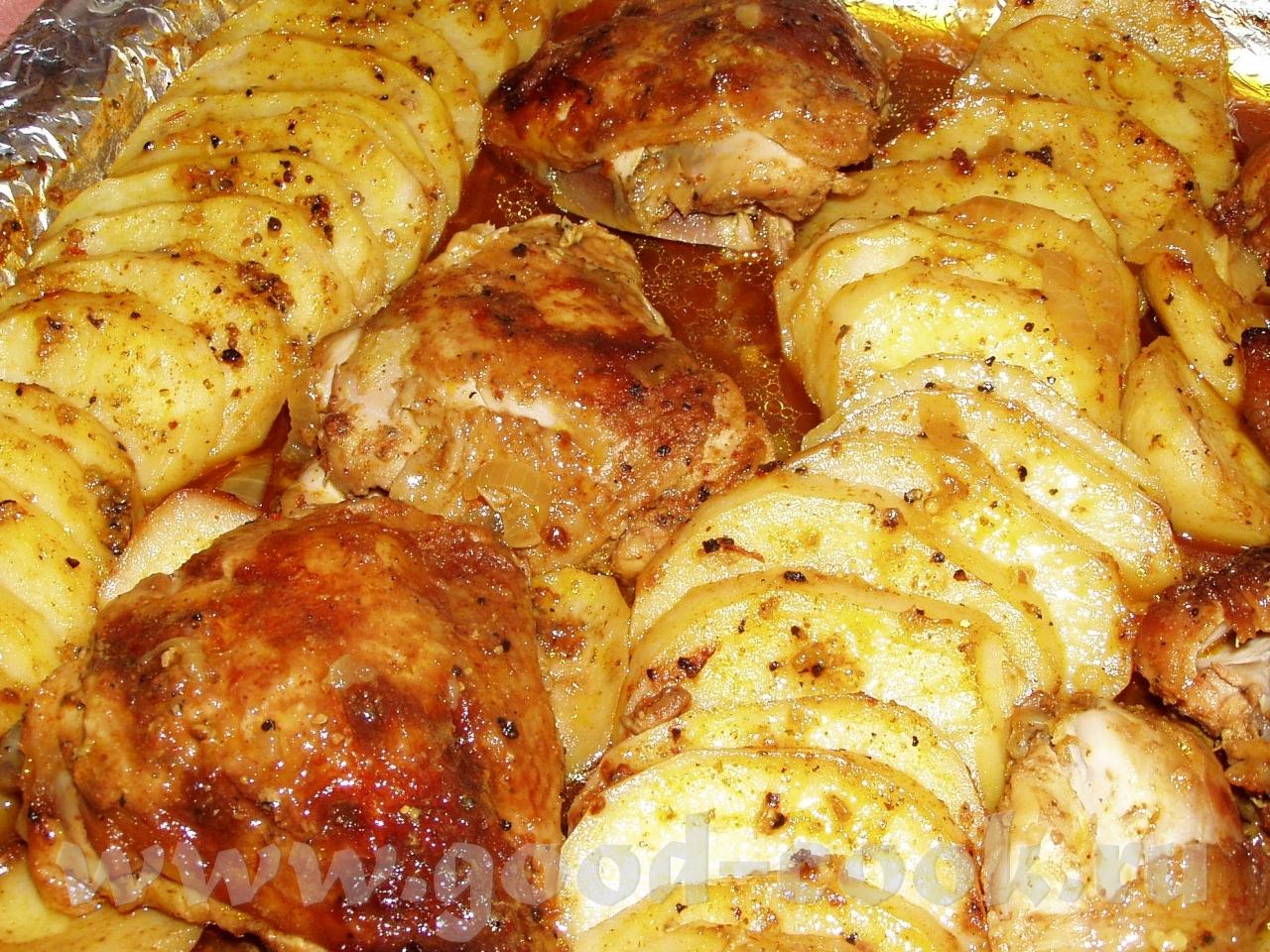 Куриные ножки с картошкой в духовке рецепты с пошагово