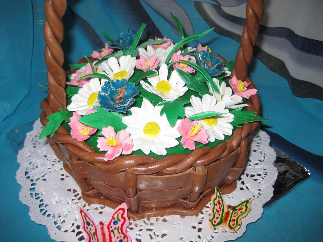 Цветы из крема для торта своими руками 82