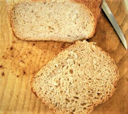 картофельный хлеб с кумином в хлебопечке