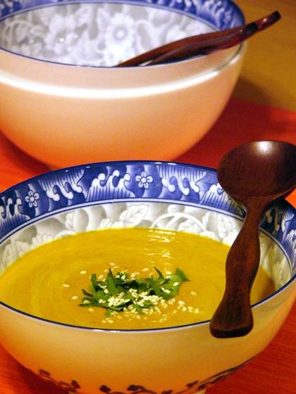 Суп из тыквы в тайских мотивах