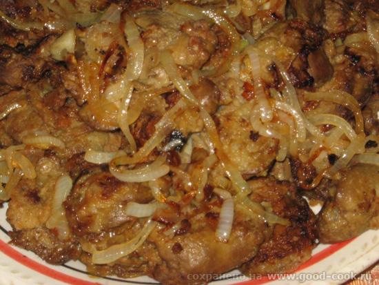 Куриная печень с луком в мультиварке рецепты с фото