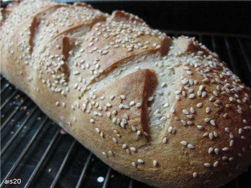 Хлеб деревенский (в хлебопечке или в духовке) рецепт из книжки к хлебопечке Мулинекс Ингредиенты (б...