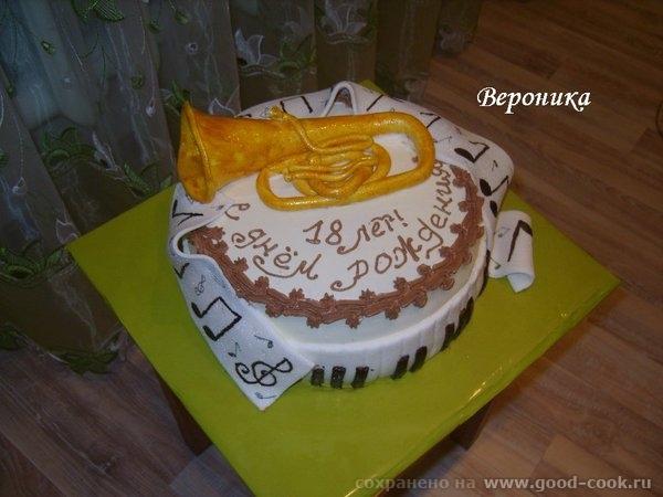 вот ещё 2 тортика: для будущей художницы: и торт для парня, который учится в муз - 2