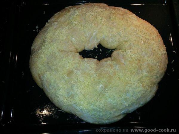 Сырный хлеб-косичка, перед выпечкой