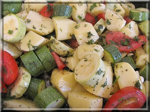 Овощи, запеченые в духовке - Λαχανικα στο &#...