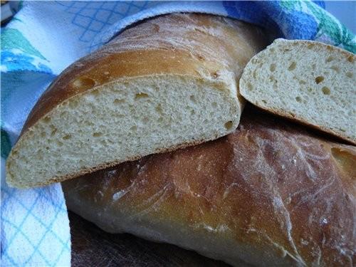 Комментарий к рецепту, из книги: эти багетты может не такие вкусные, как хлеб, испечёный во Франции...