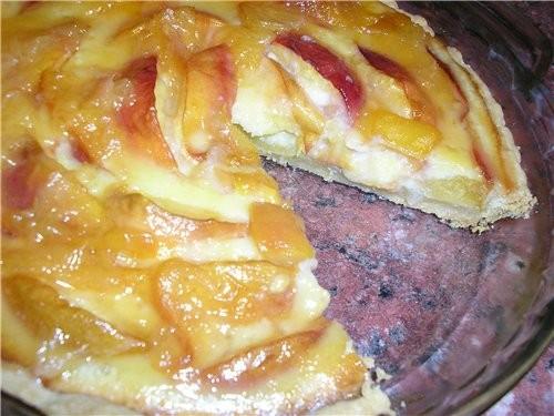 Персиково-сливочный тарт (рецепт и пошаговое приготовление)