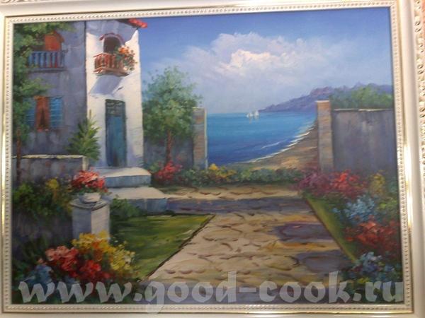 Это картины с Острова Санторини(Греция)