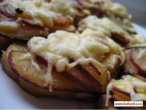 отличная идея для завтрака,да и просто вкусно бутерброды с ветчиной и сезонными фруктами 1 слива,пе... - 2
