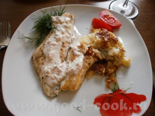 Filets de Bar Grillй Sauce а la Sauge/Филе морского окуня с соусом из шалфея Ингредиенты (2 человек...