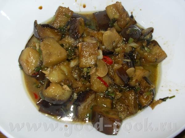 Салат из баклажанов с зеленым луком по-китайски Для рецепта Вам потребуются: - баклажаны - 3 шт