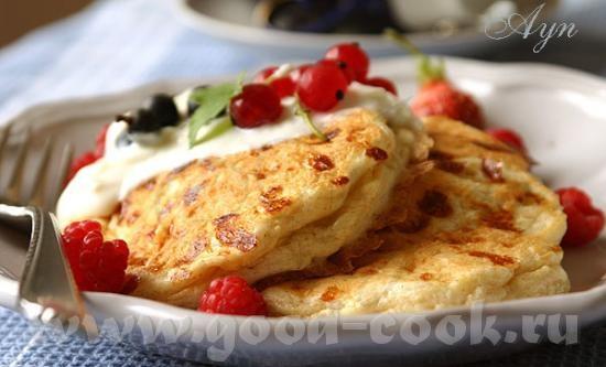 Оладьи с домашним сыром коттедж на 8 оладушек 3 больших яйца 1 чашка сыра коттедж (cottage cheese)...