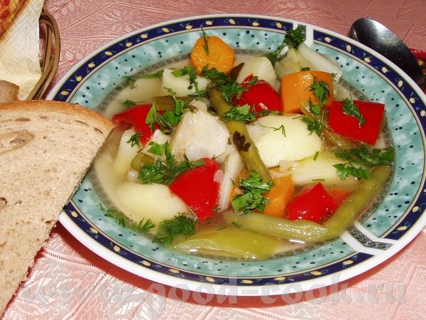 Рыбный суп с фрикадельками Суп с овощами Быстрый суп с фасолью и брокколи Угра-чучвара(узбекский су... - 2