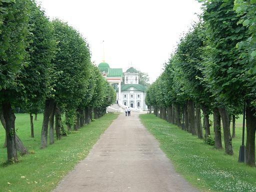 Вид на церьковь и дворец: Дворец ( 1769 - 1775 г ) Колокольня ( 1792 г )