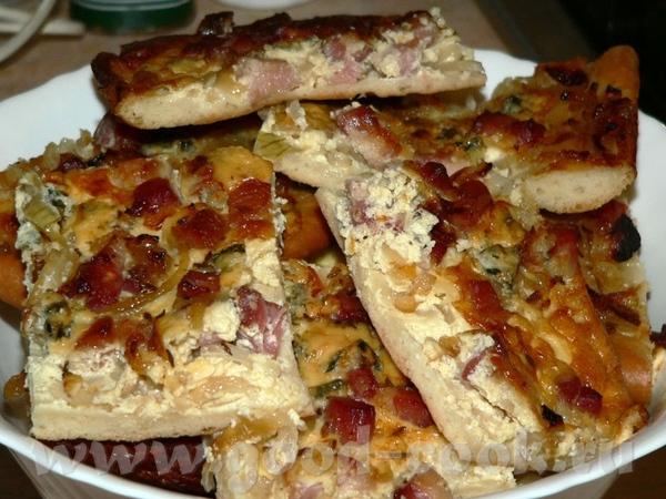 Zwiebelkuchen (Луковый пирог) 400 гр муки 1 ст - 2