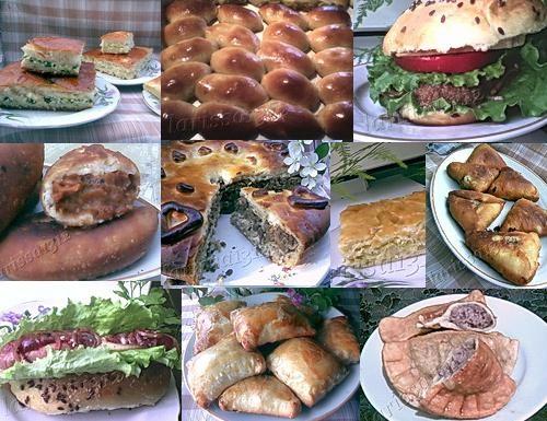 Дрожжевые пироги, пирожки, булочки