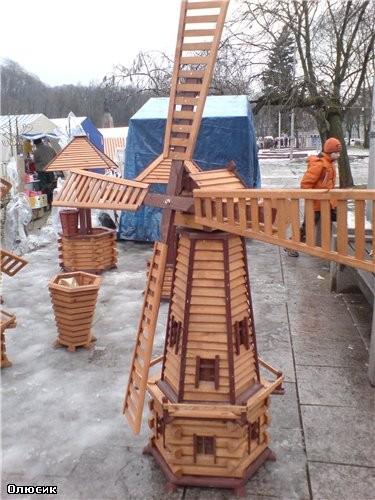 Декоративный колодец мельница своими руками