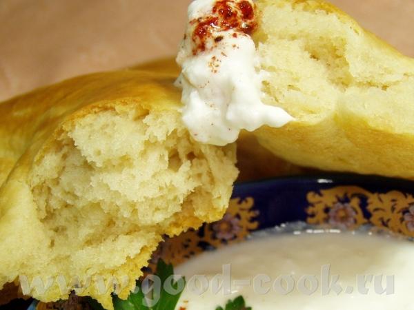 Хлеб на картофельном отваре с отрубями и чесноком Патыр(узбекские лепешки) - 4