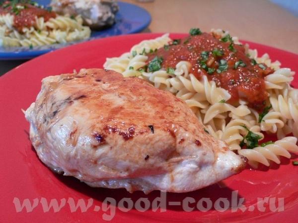 Куриная грудка, фаршированная моцареллой и вялеными томатами с базиликом Очень достойный рецепт