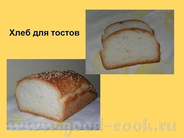 Алиса, спасибо за Хлеб для тостов Делала половинную порцию, в форме тесту было слишком свободно, по...