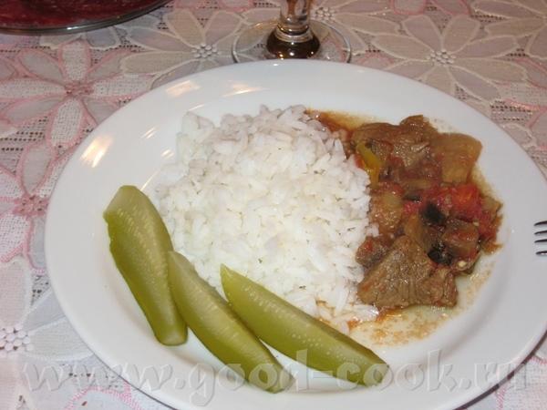 Говядина с овощами Нам понадобится говядина (я взяла филей) грамм 400-500, 1 средний баклажан, 1 кр... - 2
