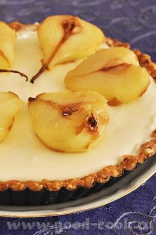 обычный в приготовлении и поедании тарт- основа из печенья, творожно сливочный крем и фрутковое доп... - 2