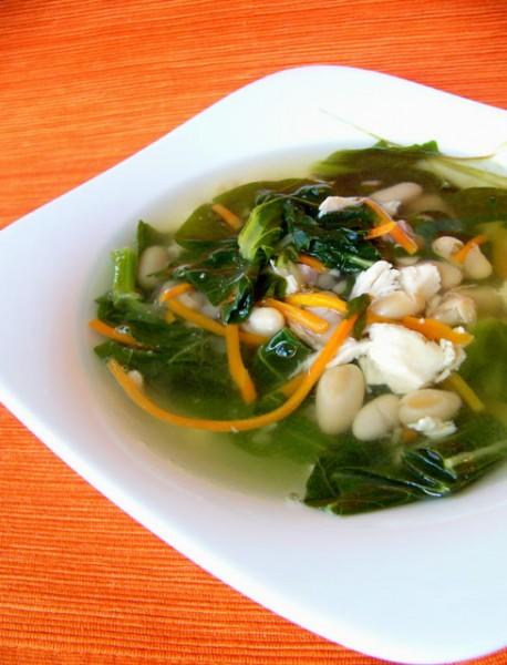 Для любителей легких овощных супов рекомендую Суп с фасолью и мангольдом в итальянском стиле Фото о...