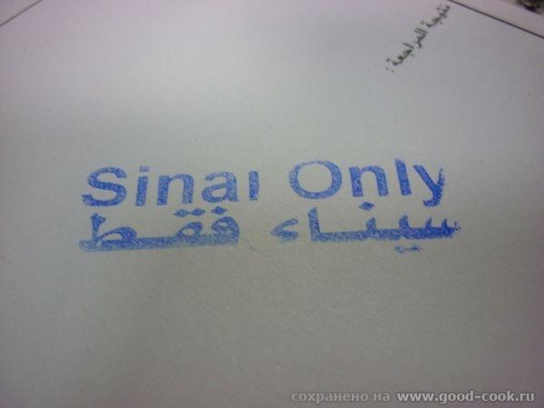 штамп Синай онли