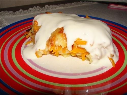 Запеканка из тыквы с сыром Преимущество – жареный лук и сыр отбивают «тыквенный» запах - 2