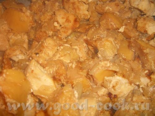 Таскебаб из курицы с айвой