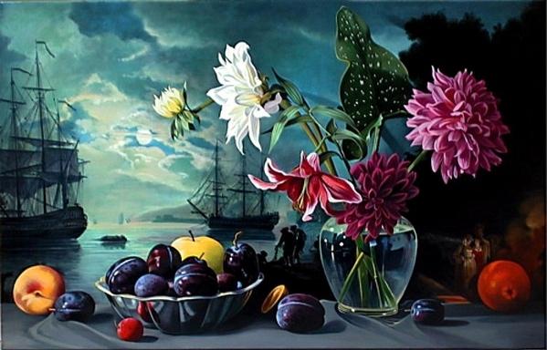Прекрасная живопись, море и волнa прелесть, изумительная работа, мастерски и живо написано, я в вос... - 3