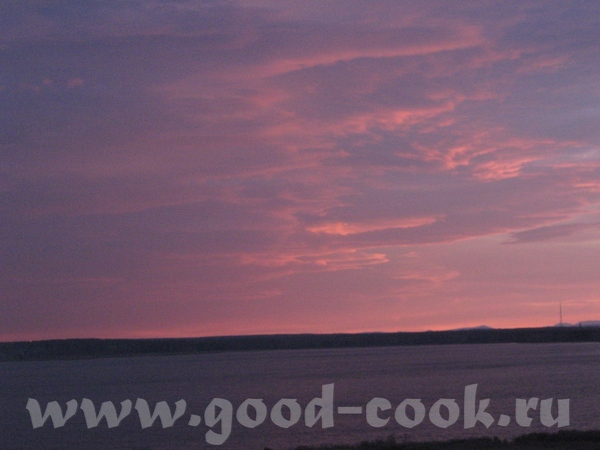 КАК КРАСИВО вот наш закат на озере небо
